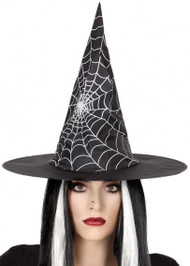 Ladies Spiderweb Witch Hat