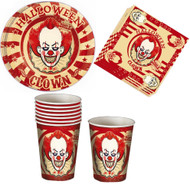 Horror Clown Party Tableware Set