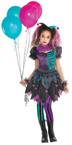 Girls Twisted Harlequin Fancy Dress Costume