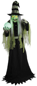 Fortune Teller Witch Animated Halloween Decoration
