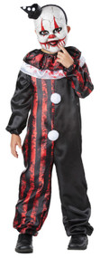 Boys Horror Giggly Clown Fancy Dress Costume