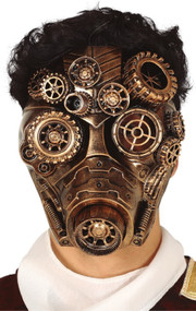 Mens Steampunk Cogs Full Face Mask