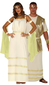Couples Golden Roman Fancy Dress Costumes