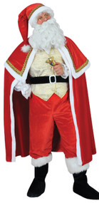 Mens Deluxe Gold Santa Suit Fancy Dress Costume
