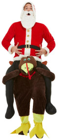 Adults Ride On Xmas Turkey Fancy Dress Costume