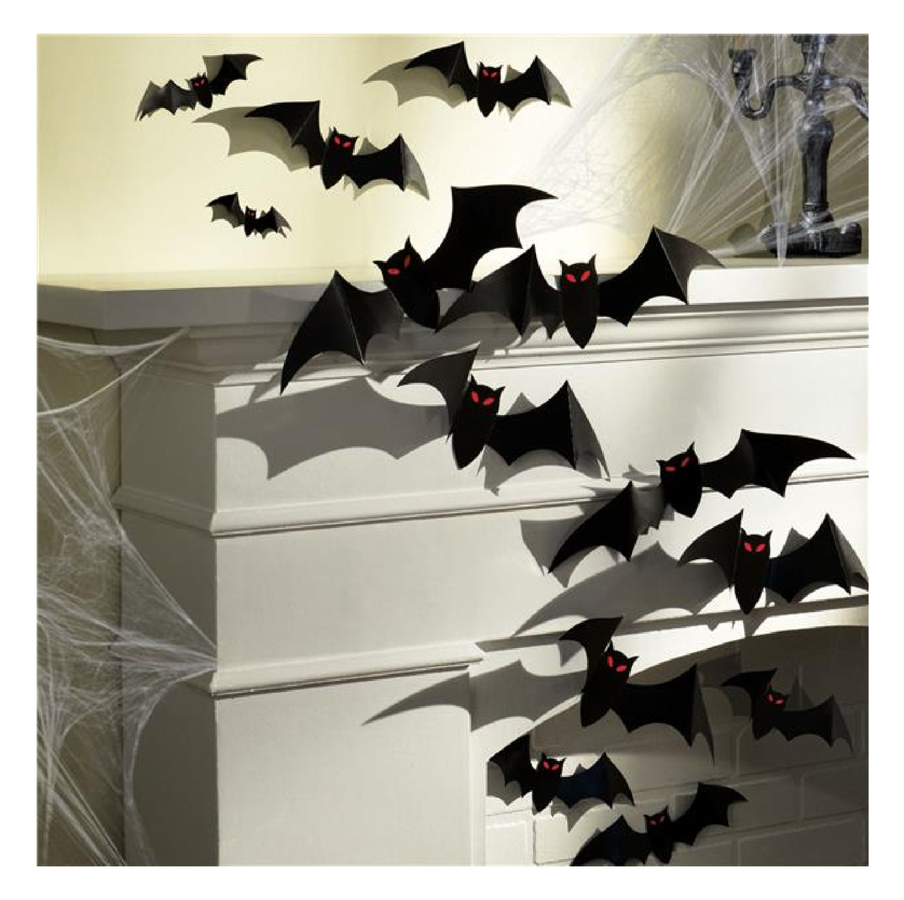 Pack Of 30 3d Hanging Halloween Bat Decorations Fancy Me Limited