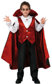 Boys Halloween Vampire Fancy Dress Costume