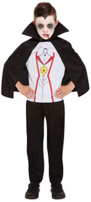Boys Spooky Vampire Fancy Dress Costume