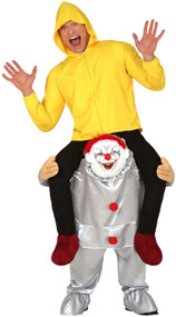 Adults Step In Horror Clown Fancy Dress Costume