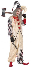 Mens Bloody Clown Fancy Dress Costume
