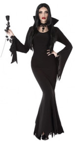 Ladies Cult Vampire Fancy Dress Costume