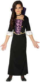 Girls Purple Vampiress Fancy Dress Costume