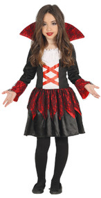 Girls Blood Vampire Fancy Dress Costume