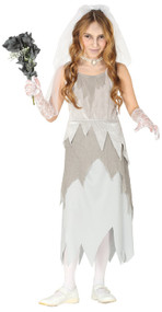 Girls Ghostly Corpse Bride Fancy Dress Costume