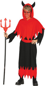 Boys Fire Devil Fancy Dress Costume