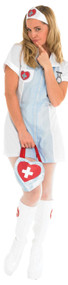Ladies Sultry Nurse Fancy Dress Costume