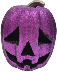 Light Up Purple Glitter Pumpkin