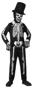 Boys Spooky Smart Skeleton Fancy Dress Costume