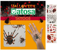 5 Pack of Halloween Tattoo Transfers