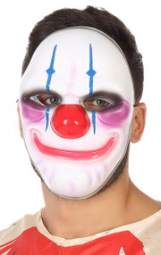 Adult Smiley Clown Fancy Dress Mask