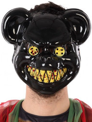 Mens Black Horror Bear Fancy Dress Mask