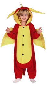 Childs Red Dragon Fancy Dress Costume
