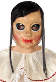 Adult Broken Doll Mask with Hair