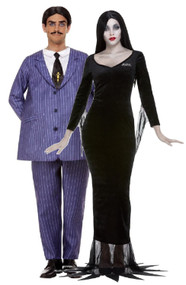 Couples Gomez & Morticia Fancy Dress Costumes