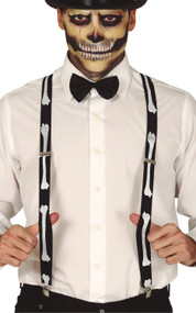 Mens Skeleton Fancy Dress Suspenders