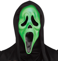 Adults Fluorescent Green Ghost Face Mask