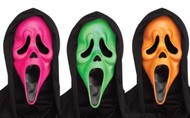 Adults 3 Pack of Ghost Face Fluorescent Masks