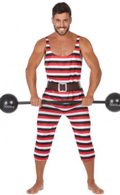 Mens Circus Strongman Fancy Dress Costume