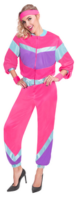 Ladies Retro Shell Suit Fancy Dress Costume