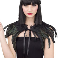 Ladies Gothic Raven Fancy Dress Cape