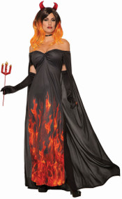 Ladies Fire Devil Fancy Dress Costume
