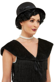 Ladies Black 1920s Fancy Dress Costume Kit