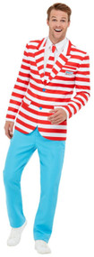 Mens Wheres Wally Fancy Dress Costume