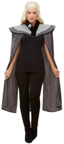 Ladies Medieval Dragon Queen Fancy Dress Cape