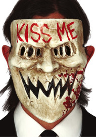 Adults Kiss Me Horror Fancy Dress Mask