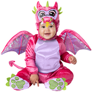 Baby Girls Pink Dragon Fancy Dress Costume