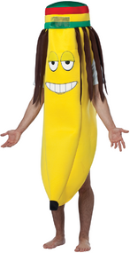 Mens Rasta Banana Fancy Dress Costume