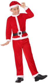 Boys Santa Suit Fancy Dress Costume