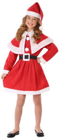 Girls Mrs Claus Fancy Dress Costume