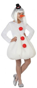 Girls Winter Snowman Fancy Dress Costume