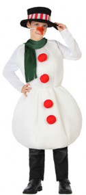Childs Winter Snowman Fancy Dress Costume
