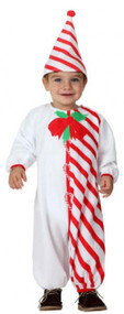 Baby Candy Cane Fancy Dress Costume