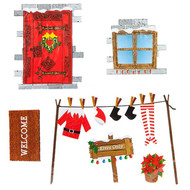 Naughty Elf Wall Sticker Decorations