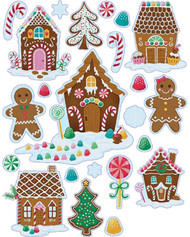 Christmas Gingerbread Window Sticker Decorations