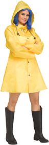 Ladies Yellow Raincoat Fancy Dress Costume
