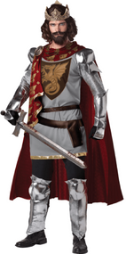 Mens King Arthur Deluxe Fancy Dress Costume